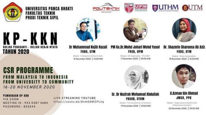 Fakultas Teknik Sipil UPB Pontianak Gelar KP-KKN CSR Programmer Bersama Malaysia