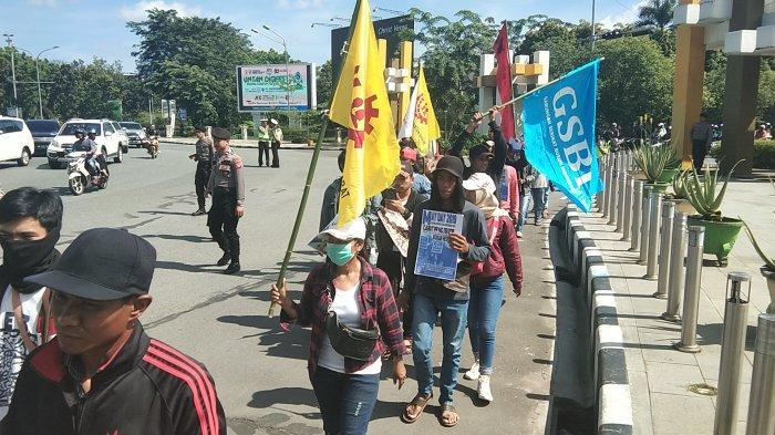 Front Perjuangan Rakyat Kalbar Peringati Hari Buruh, Gelar Aksi dan Orasi di Pontianak