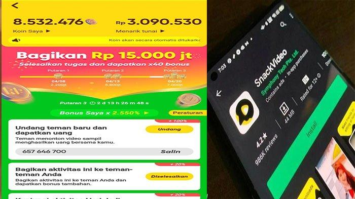 CARA Snack Video Downloader Tanpa Watermark, Snack Video Penghasil Uang Gratis dengan Ikuti Misinya