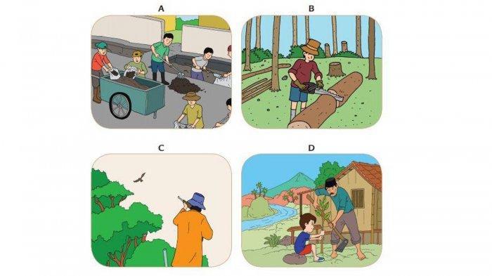 Menurutmu, Gambar Manakah yang Menunjukkan Usaha Pelestarian Lingkungan Alam? Jawaban Tema 9 Kelas 4