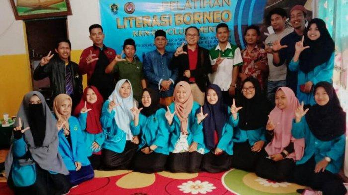 Gandeng LP2M & Pemuda Ansor, Mahasiswa KKL IAIN Pontianak Gelar Pelatihan Literasi