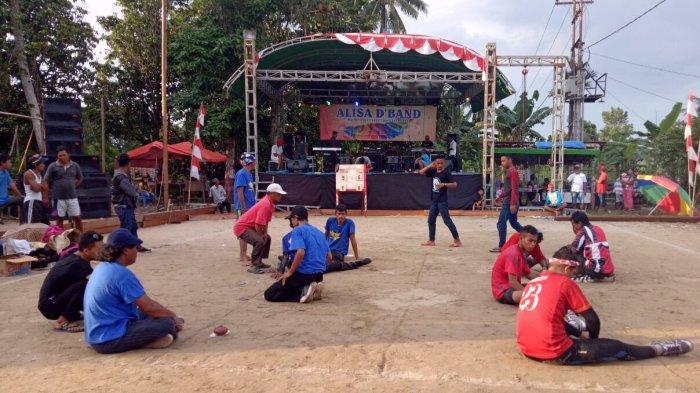 Kapolsek Rasau Jaya Buka Secara Resmi Pertandingan Gasing se Kabupaten Kubu Raya
