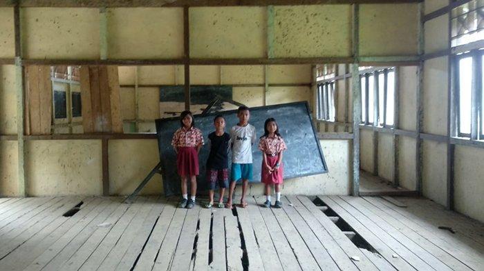 Gedung SDN 09 Landau Beringin Pinoh Selatan Mengkhawatirkan, Lantai Papan Rapuh dan Bolong