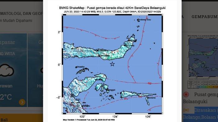 Gempa Hari Ini Guncang Bolaangkui Sulawesi Utara Berkekuatan M 6.3 Dirasakan hingga Palu & Manado