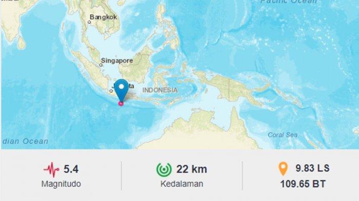 GEMPA BUMI Magnitudo 5,4 Guncang Bantul Yogyakarta Sore Ini