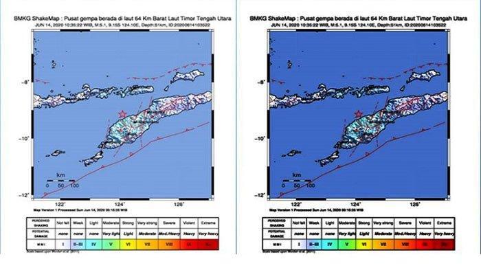Gempa Hari Ini M 5,1 Mengguncang Kabupaten Timor Tengah Utara NTT, Tidak Berpotensi Tsunami