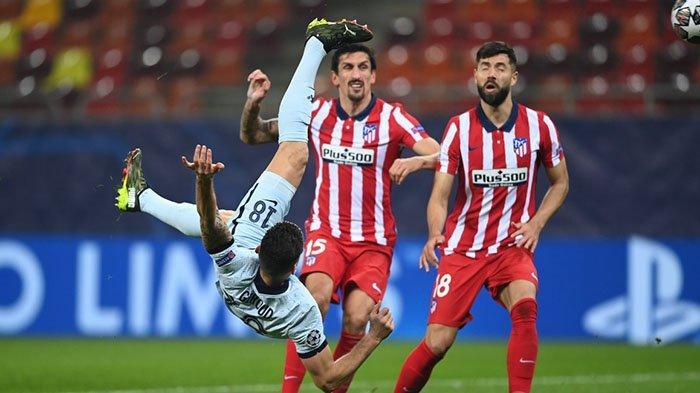 TONTON Video 24 Gol Liga Champions Leg 1 Fase 16 Besar! Gol Salto Giroud Paling Spektakuler, Messi ?