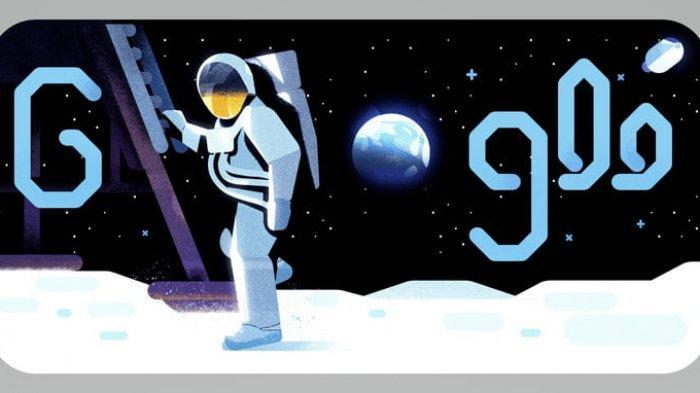 Google Doodle Peringati 50 Tahun Misi Pendaratan Pertama di Bulan, Ucapan Terkenal Neil Armstrong!