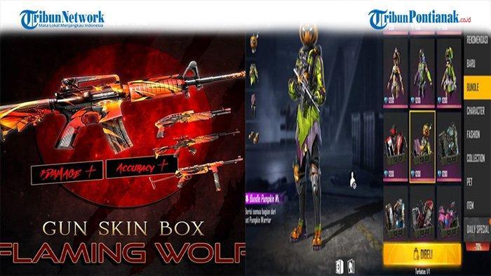 Gratis Kode Redeem FF 4 September 2021 Terbaru, Dapatkan Flaming Wolf Weapon dan Pumpkin Warrior