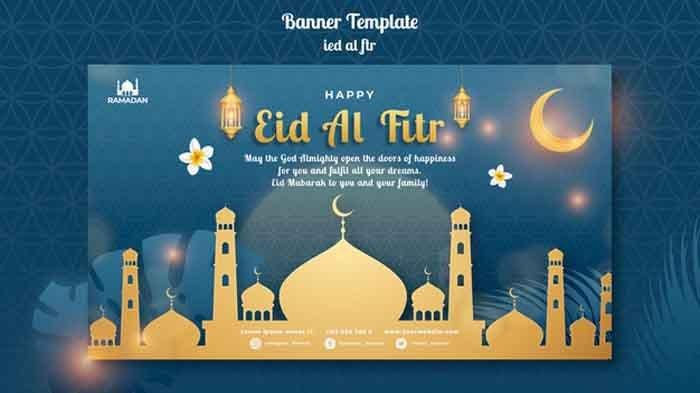 Gratis Link Download Template Ucapan Idul Fitri 2021 dengan Bingkai Foto Twibbon Idul Fitri 2021