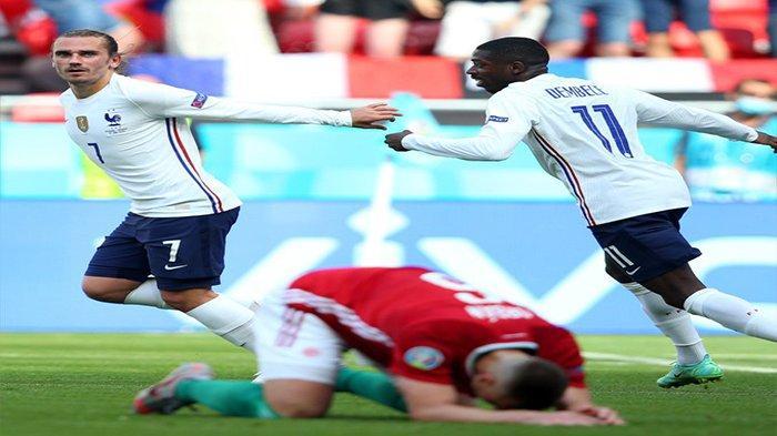 HASIL EURO 2020 - Perancis Nyaris Dipermalukan Hungaria, Berikut Klasemen Grup F Piala Eropa
