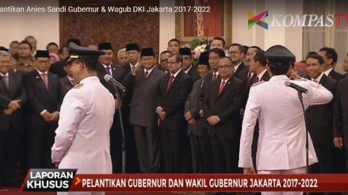 Sah! Anies-Sandi Pimpin Jakarta, Ada Adegan Menarik Saat Sandiaga Beri Hormat
