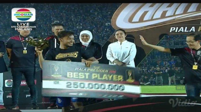Hamka Hamzah Dinobatkan Sebagai Pemain Terbaik Piala Presiden 2019, Segini Reward yang Diterima