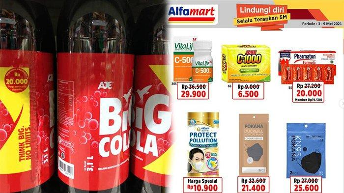 Harga Big Cola 3 Liter di Alfamart, Cek Harga Masker Duckbill Alfamart