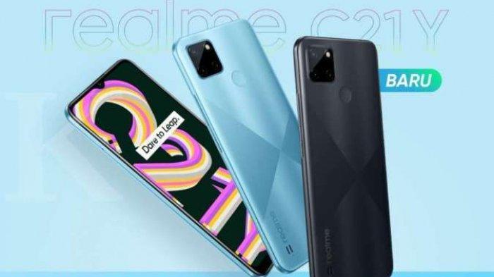 HARGA dan Spesifikasi Realme C21Y, Hp China Terbaru Ini Cuma Rp 1 Jutaan   Baterainya Jumbo