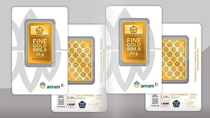 HARGA Emas Antam Logam Mulia Harga Emas Org/Grafik Hari Ini 14 Desember 2020, Juga Mini Gold Antam