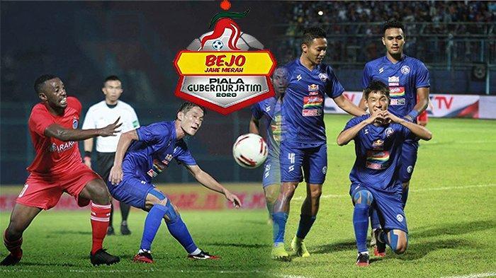 HASIL Arema Vs Sabah FA Piala Gubernur Jatim 2020, Tim Asuhan Kurniawan Dwi Yulianto Tak Berkutik