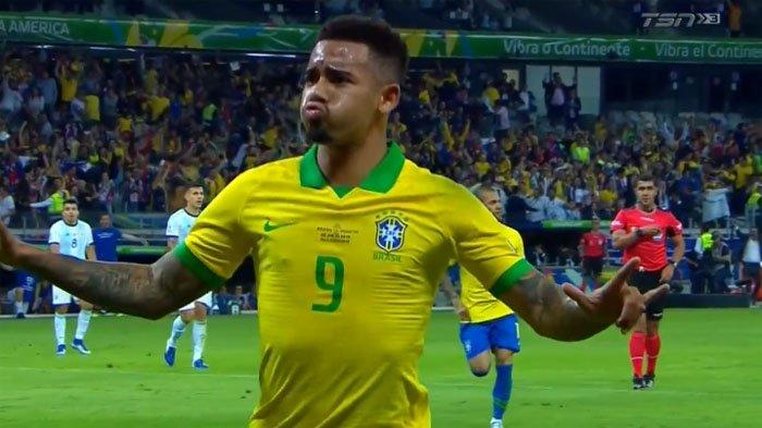 HASIL Brazil Vs Argentina Semifinal Copa America, Gabriel Jesus Bawa Tim Samba Unggul di Menit 19