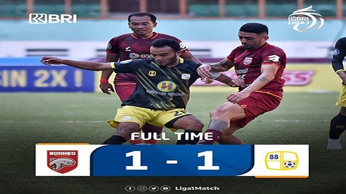 Hasil BRI Liga 1 Indonesia 2021 Hari Ini Persela vs Persita dan Borneo FC vs Barito Putera