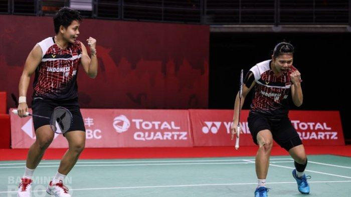 HASIL Badminton Olimpiade Polii/Rahayu Menang Dua Set Langsung Lawan Ganda Malaysia