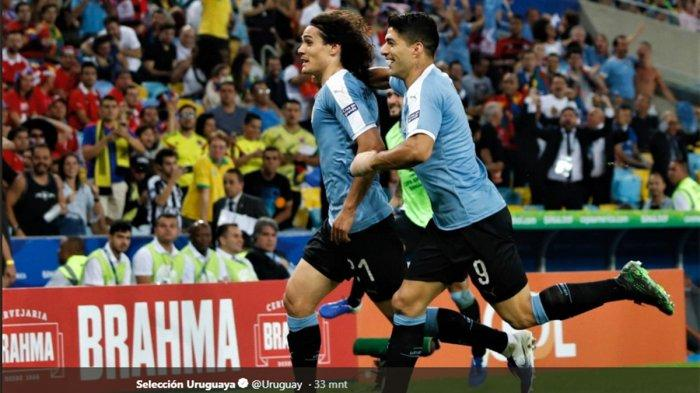 Hasil Chili Vs Uruguay Copa America 2019, Cavani Bawa Uruguay ke Perempat Final: Jepang Tersingkir