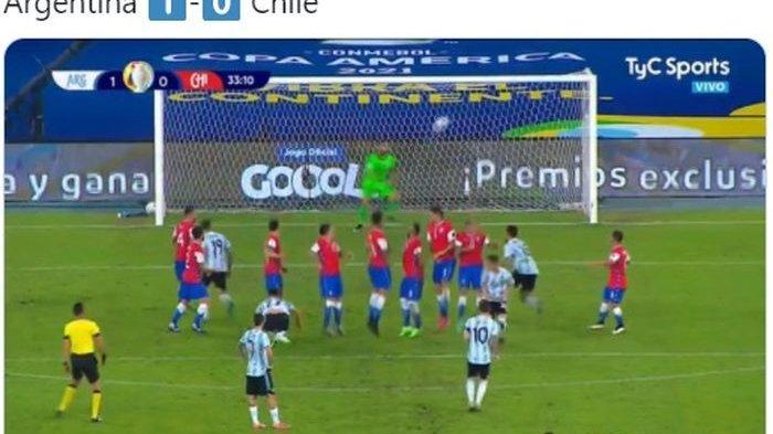Hasil Copa America 2021 - Gol Indah Messi Dibalas Penalti Vidal, Klasemen Copa America 2021 Terbaru