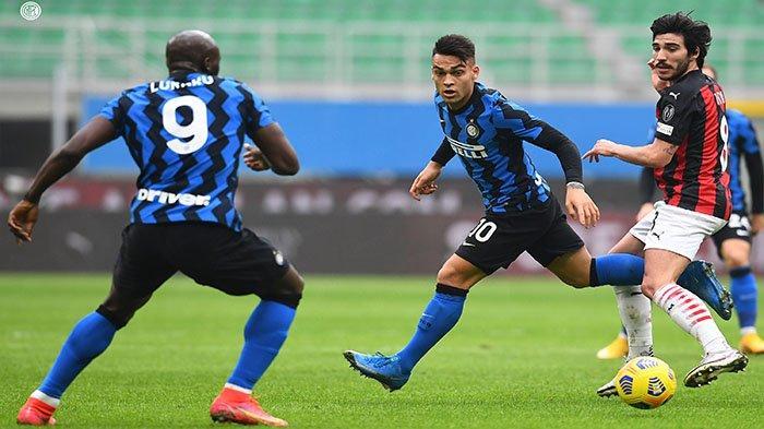 HASIL Inter Vs AC Milan 6-2 Total Tembakan! Duet Lukaku-Martinez Bekuk AC Milan Babak I Skor 1-0