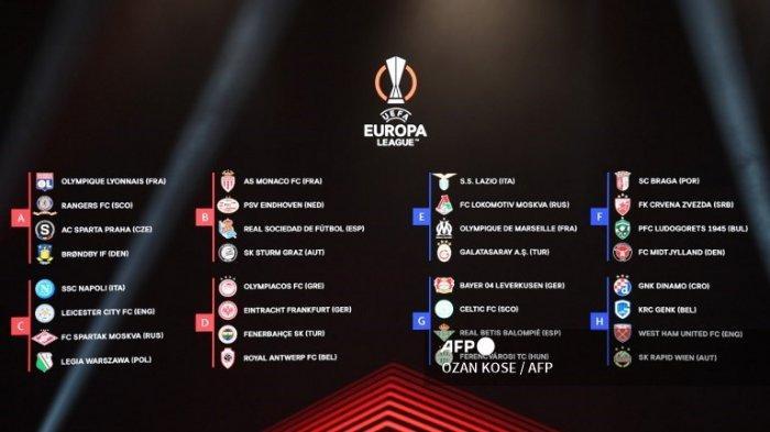 Jadwal Liga Eropa 2021-2022 Fase Grup Matchday 1: Leicester vs Napoli, Galatasaray vs Lazio