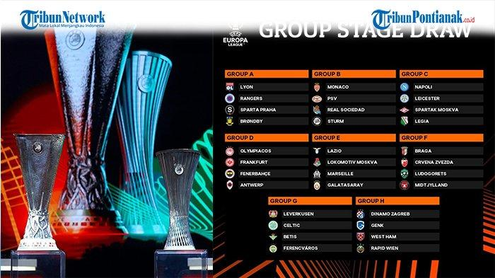 Hasil Drawing Liga Europa 2021 Babak Penyisihan Grup Lengkap Jadwal dan Link Live Streaming