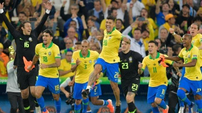 HASIL Final Copa America 2019, Trofi Pertama Tuan Rumah Brazil Sejak 2007 Setelah Tundukkan Peru 3-1