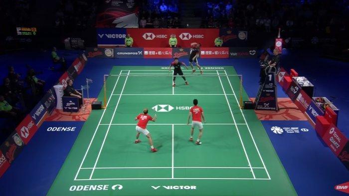 Hasil Final Denmark Open 2019: Marcus/Kevin Pertahankan Gelar Juara Setelah Kalahkan Ahsan/Hendra