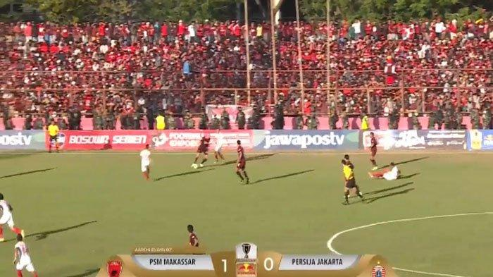LIVE STREAMING Persija Vs PSM Babak II, Babak I PSM Unggul 1-0 dan Petaka Buat Persija Jakarta