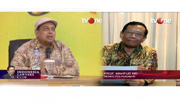 Hasil ILC TVOne: Haikal Hassan Ingatkan Mahfud MD JAS METAL Soal Tak Ada Pelanggaran HAM Era Jokowi