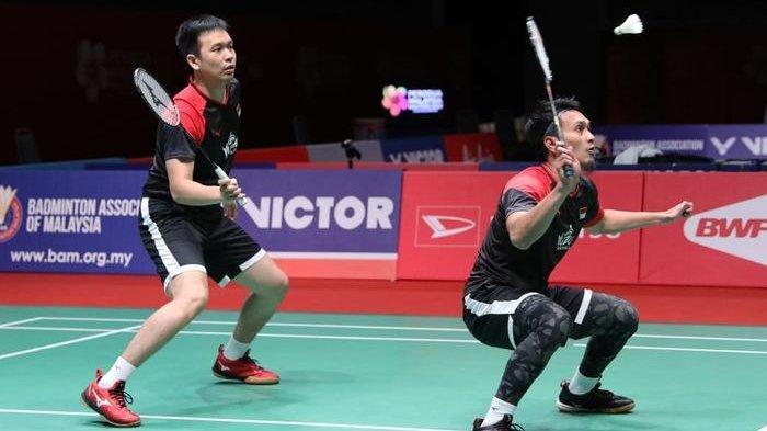 Jadwal Badminton Olimpiade Tokyo 2021 Mohammad Ahsan / Hendra Setiawan Vs Aaron Chia / Soh Wooi Yik