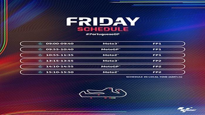 Hasil Latihan Bebas MotoGP Portugal 2021 Hari Ini Jumat 16 April 2021, Cek Hasil FP1 Moto2 dan Moto3