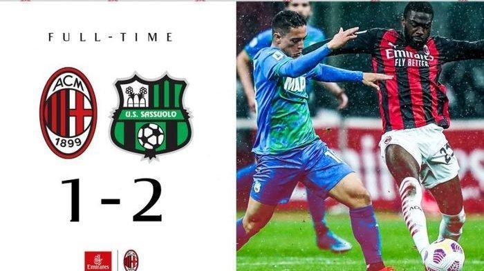 HASIL Liga Italia Tadi Malam - AC Milan Kena Comeback Sassuolo, Cek Klasemen Liga Italia Terbaru