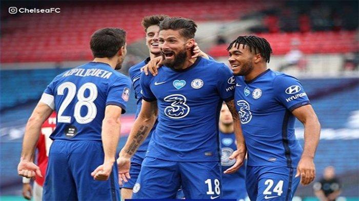 HASIL Arsenal Vs Chelsea Live Streaming RCTI Final Piala FA, Pulisic Cetak Gol Kilat untuk Chelsea