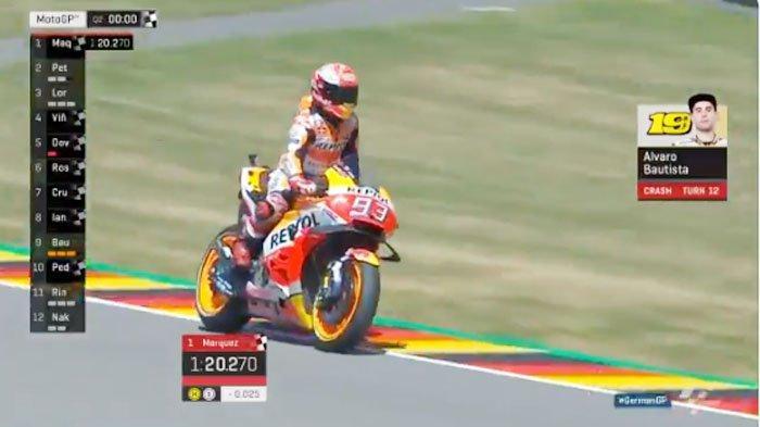 HASIL MotoGP Jerman FP4 | Valentino Rossi Kalah Atas Pebalap Jepang, Marc Marquez Posisi 2