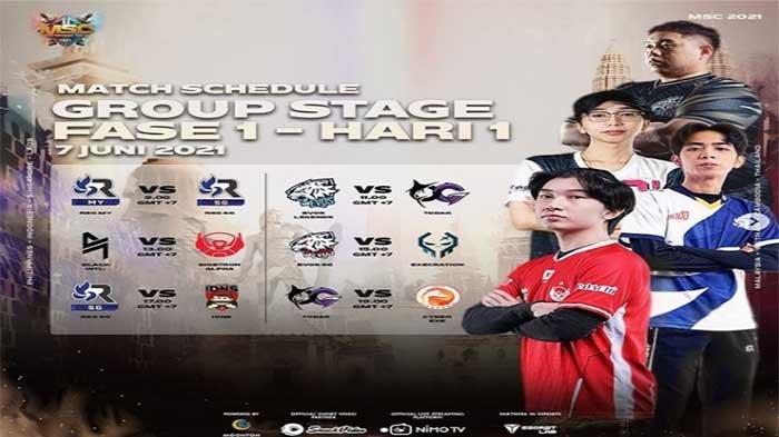 HASIL MSC 2021 Hari Ini - Dua Wakil Indonesia EVOS Legends dan Bigetron Alpha Bertemu Lawan Kuat