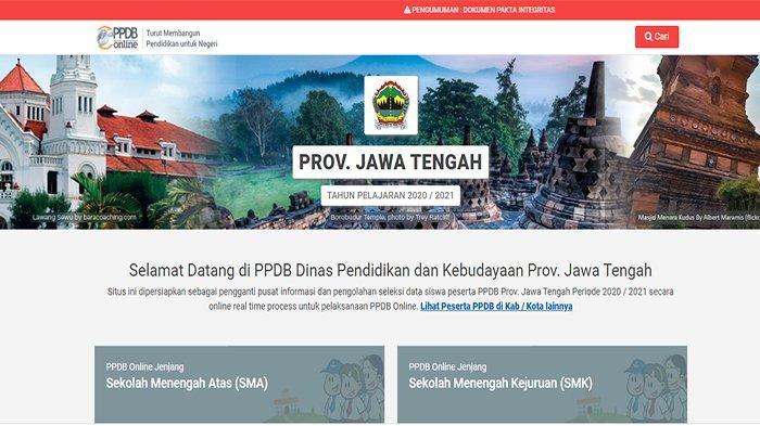 HASIL Seleksi PPDB Jateng 2020 Diumumkan, Login jateng.siap-ppdb.com Lihat Hasil PPDB Jateng Terkini