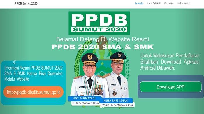 HASIL PPDB Sumut 2020, Login ppdb.disdik.sumutprov.go.id   Lihat Jadwal Seleksi PPDB Sumut Lengkap