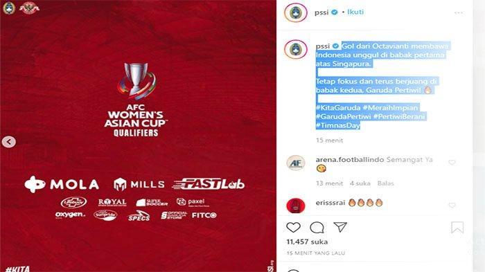 HASIL Timnas Vs Singapura AFC Womens Asian Cup India 2022 Qualifiers, Octavianti Fantastis!