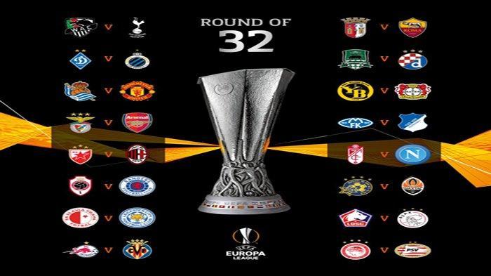 Hasil Undian Liga Europa Babak 32 Besar AC Milan - Arsenal - Man United - Napoli - Roma - Tottenham