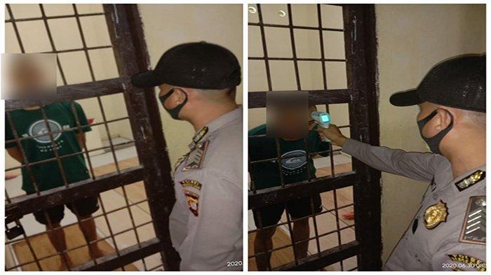 Personel Polsek Ledo Cek Kesehatan dan Kontrol Tahanan