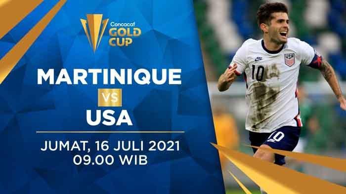Head to Head Martinique vs Amerika SerikatPiala Emas CONCACAF 2021 Lengkap Prediksi Skor Akhir
