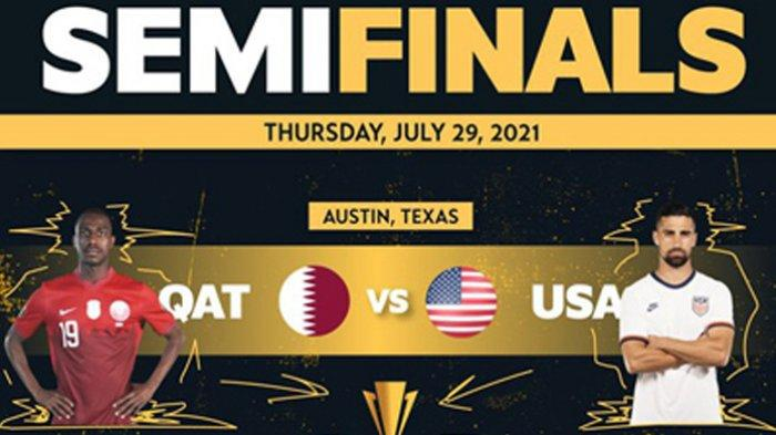 Head to Head Qatar vs Amerika Serikat Piala Emas CONCACAF 2021 Lengkap Prediksi dan Link Streaming