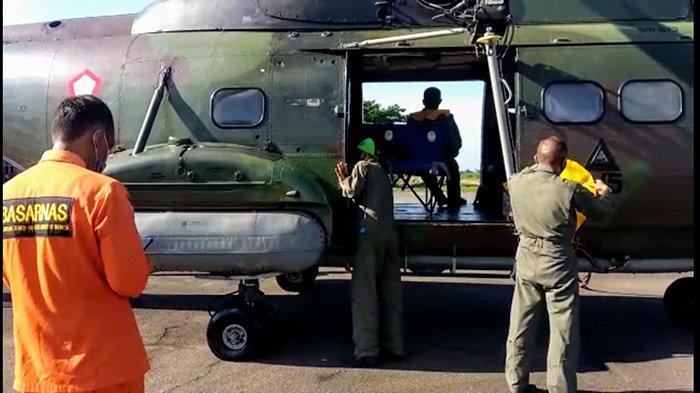 Cari korban Kapal Tenggelam, SAR Pontianak Libatkan Helly Super Puma