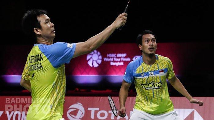 HASIL AKHIR Badminton Semifinal World Tour Finals - Hendra/Ahsan Hadapi Fans di Final Lee/Wang