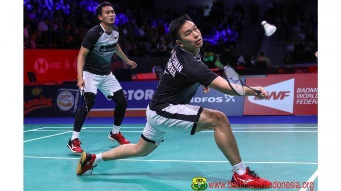 Hendra/Ahsan Kalah di Gim Kedua Final Hongkong Open 2019