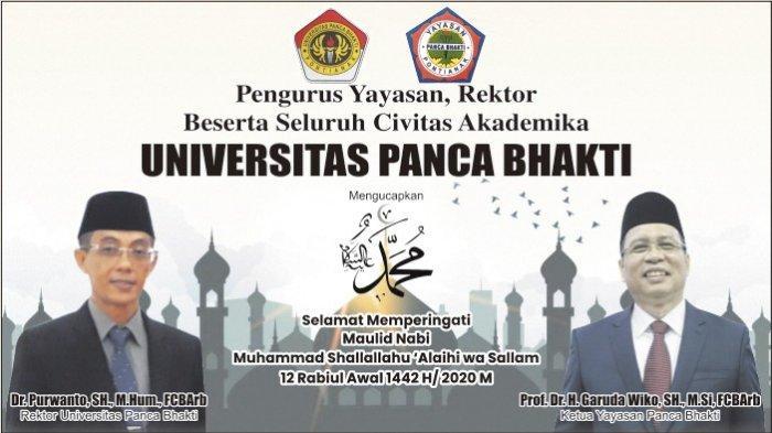 Universitas Panca Bhakti Pontianak Ucapkan Selamat Memperingati Maulid Nabi 1442 H